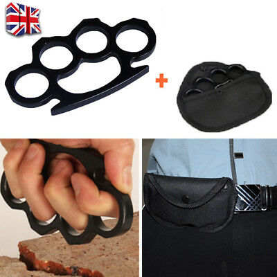 Stainless Steel Four Fingers Fist Self Defence Help Emergency Survival Tool UK