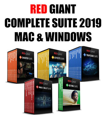 RED GIANT COMPLETE SUITE 2019 - For Mac and Windows - INSTANT DOWNLOAD
