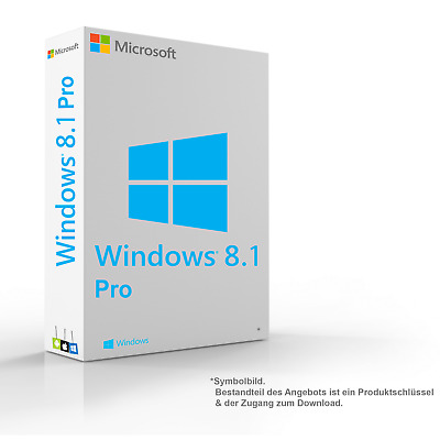MS Microsoft Windows 8.1 Pro 1PC Original 64/32-Bit
