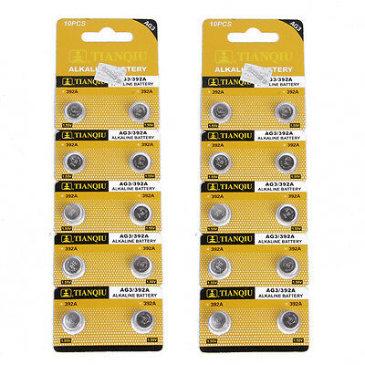 2Pack quality1.5V AG3 / 392A LR41 SR41 392 Alkaline Cell Button Coin Battery