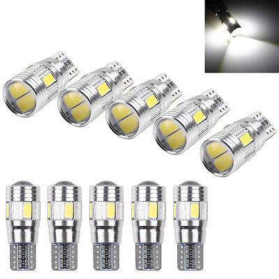 10 X T10 501 194 W5W 5630 LED SMD Car HID Canbus NO ERROR Wedge Light Bulbs Lamp