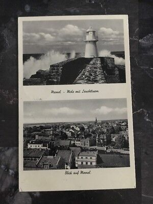 1938 Memel Lithuania Picture Postcard Cover To Germany