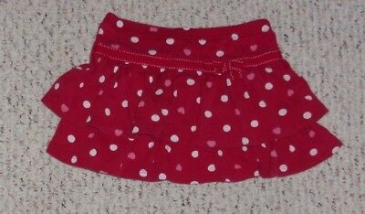 Red Gymboree Tiered Skirt w/ White Dots & Pink Hearts, Valentine's Day 2012, 5