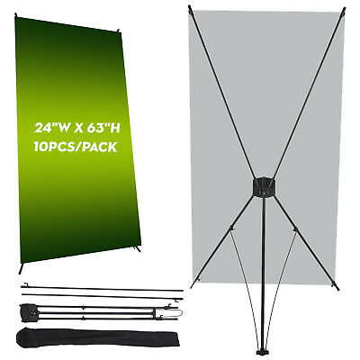 "10Pcs Banner Stand 24"" x 63"" Trade Show Display W/ Bag Pop Up For Shopping Mall"