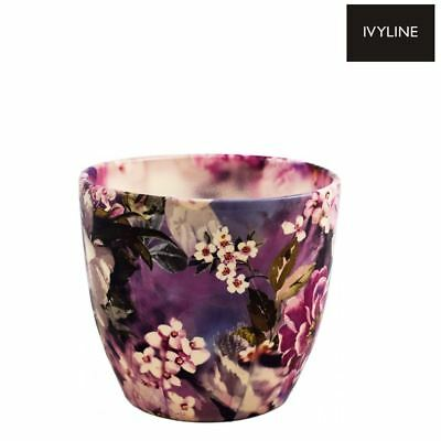 Ivyline Monza Watercolour Lilac Indoor Plant Pot Planter Flower Pot