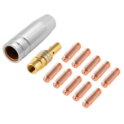 12pcs MB15 MIG Welding Torch Contact Tips 0.6mm Gas Nozzle Tip Holder Kit BI1214