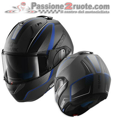 Helmet Motorrad Shark Evo One Astor Black Mat Blue Casque Modular