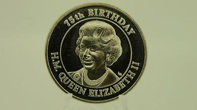2001 Turks Caicos Islands 5 Crown coin Queen Elizabeth II 75th Birthday