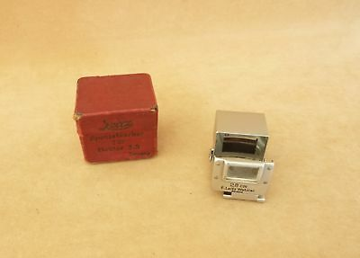 "LEICA LEITZ ""SUOOQ"" BRIGHT FINDER HEKTOR 2.8 cm WITH ORIGINAL RED MAKER'S BOX"