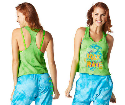 Zumba® Rock N Rave Loose Cropped Tank-Choose Size - NWT MSRP $30
