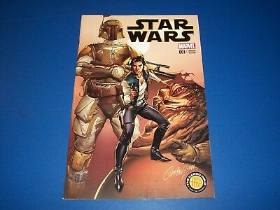 Star Wars #1 Campbell Color Variant Cargo Hold Boba Fett Wow NM Gem