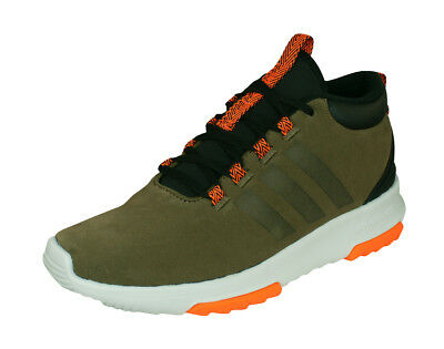 info for 7c098 90944 adidas Neo CF Racer Mid WTR Mens Suede Sneakers Casual Shoes - Dark Green