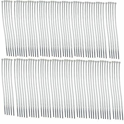 White Nylon Cable Ties Zip Lock Ties 100 Pack Strong Plastic Heavy Duty