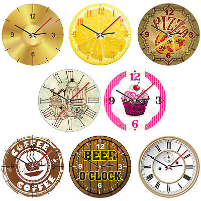 Novelty Fun Themed Round Foamex Plastic Wall Clock Gift Present Home Decoration