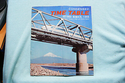 Japanese National Railways - Condensed Time Table 10/1/66