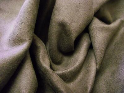 Faux Suede Suedette Fabric Material 150g - DARK BROWN