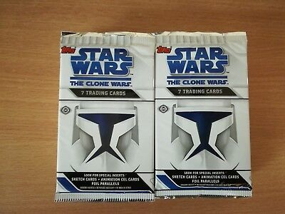 Star Wars Clone Wars Lot Of 20 Factory Sealed Trading Card Hobby Packs Sketch ??
