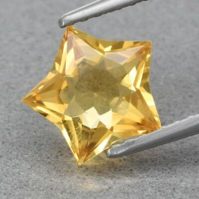 Top! VVS 1.18ct 8x7.8mm Star Natural Yellow Citrine, Brazil