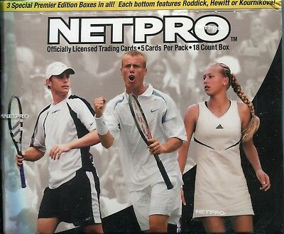 Netpro Tennis Factory Sealed Trading Card Box