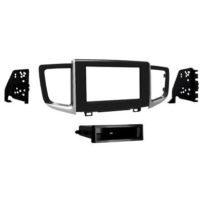 CT23FD15 Car Stereo Double Din Fascia Panel Fitting Kit Black For FORD Fiesta