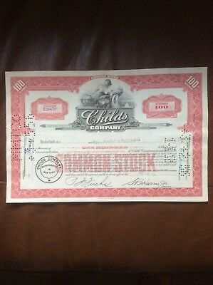 Child's Co. Dated 1953 100 Shares Invalid Share Certificate
