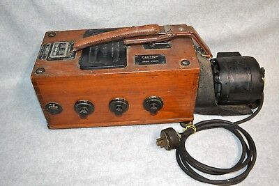 Vtg Biddle Megger Wire Inspection Tester w/Electric Motor, Ill Public Service Co