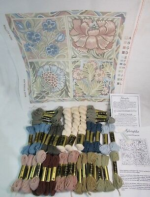 WILLIAM DE MORGAN TILES  Cushion Tapestry Kit GLORAFILIA Anchor