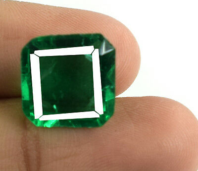 8.55 Ct Muzo Colombian Emerald 100% Natural Emerald Cut AGSL Certified E4841