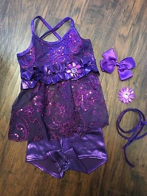 Dance Costume - girls size XS - excellent condition - purple