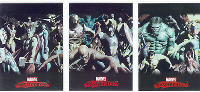 Marvel Masterpieces 2007 Complete 3 Card Chase Set Alex Ross