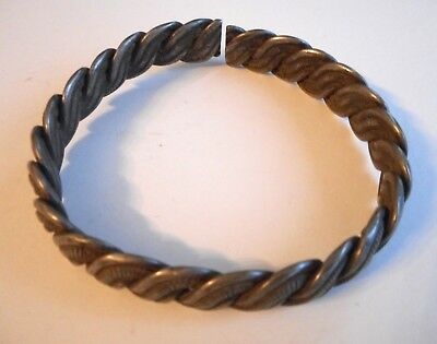19th / Early 20th Century Coiled Silver Chinese / Ethnic Minority Bracelet