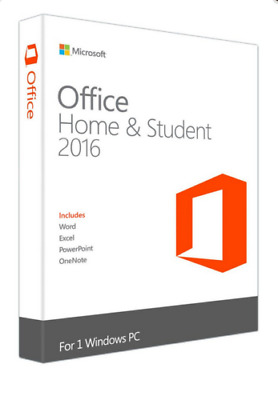 MICROSOFT OFFICE 2016 HOME AND STUDENT for 1PC WINDOWS - LICENSE KEY