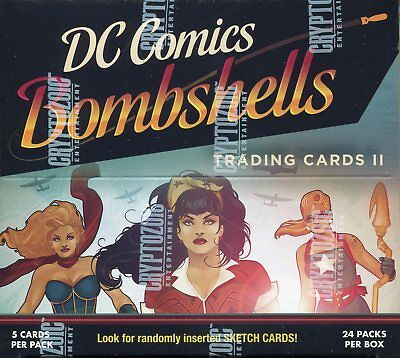 DC Bombshells Series 2 Factory Sealed Trading Card Hobby Box