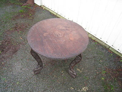 Antique quality wooden ornate solid wood carved table ornate legs quality
