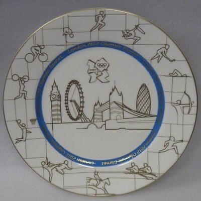 """Wedgwood London 2012 Olympic Games 10.75"""" Wall Plate, Boxed"""