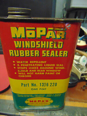 Vintage 1950s Era Mopar Rubber Sealer  Tin Advertising Can Chrysler Product