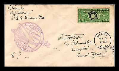 Dr Jim Stamps Us Cover First Flight Lindbergh Miami Cristobal Air Mail 1931