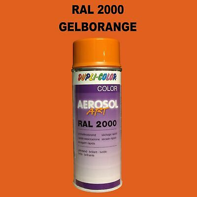 Dupli Color Pulvérisation 400ml Brillant Spray Peinture RAL2000 Jaune Orange