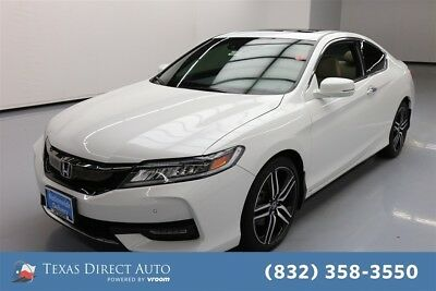2017 Honda Accord Touring Texas Direct Auto 2017 Touring Used 3.5L V6 24V Automatic FWD Coupe Moonroof