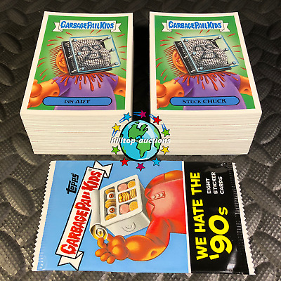 GARBAGE PAIL KIDS WE HATE THE 90's! 2019 COMPLETE 220-CARD SET +WRAPPER! NEW+H@T