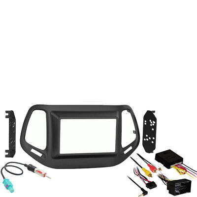 Jeep Compass 2017.5-2018 Double DIN Stereo Harness Radio Install Dash Kit New