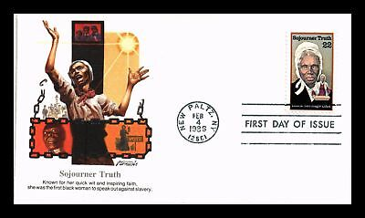 Dr Jim Stamps Us Cover Sojourner Truth Black Heritage Fdc Scott 2203