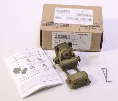 NEW Wilcox L4 G24 Mount w/ Breakaway Base FDE Tan NVG Arm P/N 28300G24-T