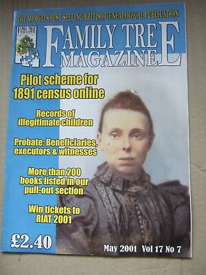 4 Family Tree Magazines - 2001 - May + June + July + August
