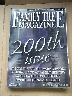 4 Family Tree Magazines - 2002 - May + June + July + August