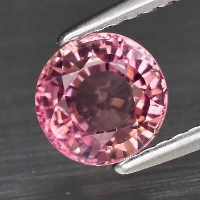 1.32ct 6.7mm VS Round Natural Unheated Pink Tourmaline, Mozambique