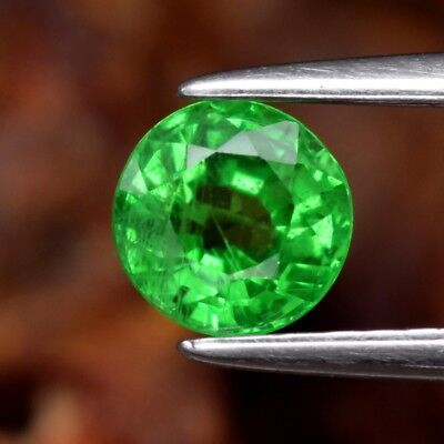 0.69ct 5mm Round Natural Green Tsavorite Garnet, Tanzania