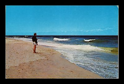 Dr Jim Stamps Us Surf On Outer Cape Cod Massachusetts Chrome View Postcard
