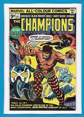 The Champions #1_October 1975_Vf Minus_Action Packed First Issue_Bronze Age Uk!
