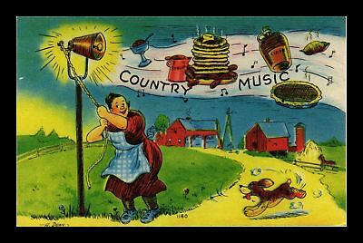 Dr Jim Stamps Us Comic Country Music Farm Scene Topical Postcard